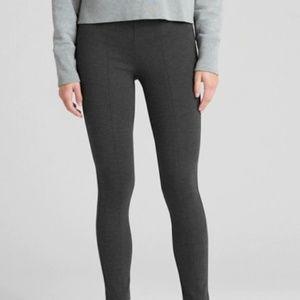 GAP Side-Zip Ponte Leggings Charcoal Gray Small